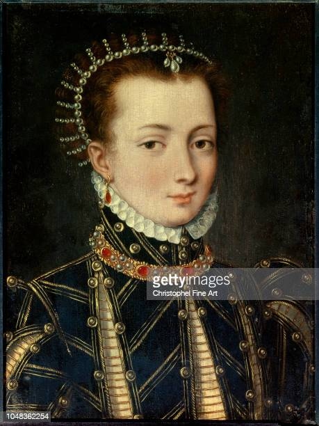 Atelier De Clouet Francois Portrait of Anne Boleyn Queen of England Musee Conde in Chantilly