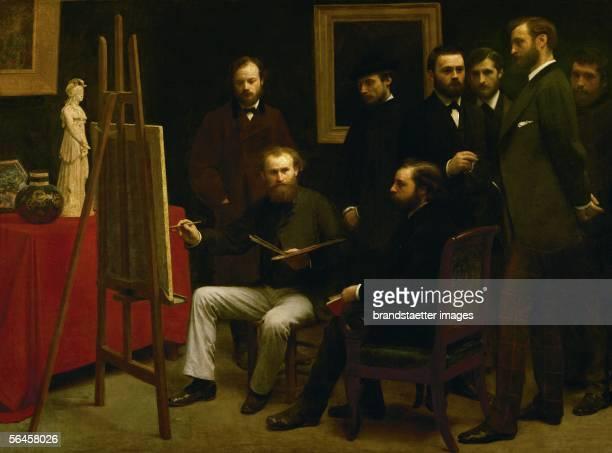 L'atelier des Batignolles Manet with Astruc behind them Schoelderer Renoir Zola Maitre Bazille Monet By Henri Fantin Latour 204 x 2735 cm [L'atelier...