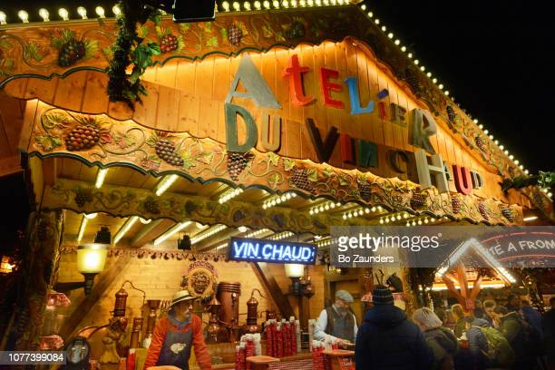 Atelier du Vin Chaud, at the Christmas market in the Tuileries Garden in Paris, France.