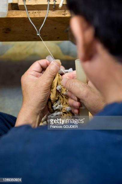 Atelier textile et technique du Shibori le 24 avril 2010 à Kyoto, Japon