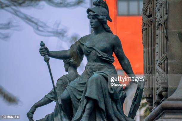 Atenea sculpture in the Independence monument in Mexico City