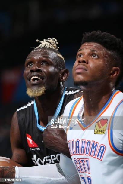 Ater Majok of New Zealand Breakers looks on during the game against the Oklahoma City Thunder during the preseason on October 10, 2019 at Chesapeake...