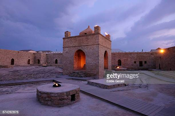 ateshgah temple in azerbaijan - アゼルバイジャン ストックフォトと画像