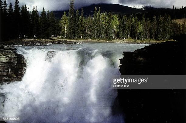 Athabasca Falls im Jasper Nationalpark Oktober 1997