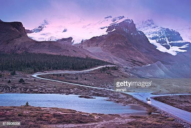 Athabasca Glacier, Canadian Rockies, at nightfall