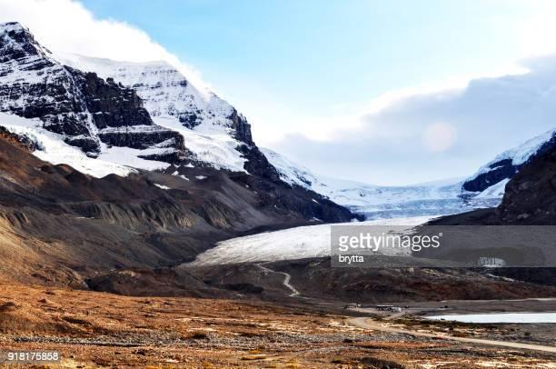 athabasca glacier, jasper national park, alberta,canada - glacier stock pictures, royalty-free photos & images