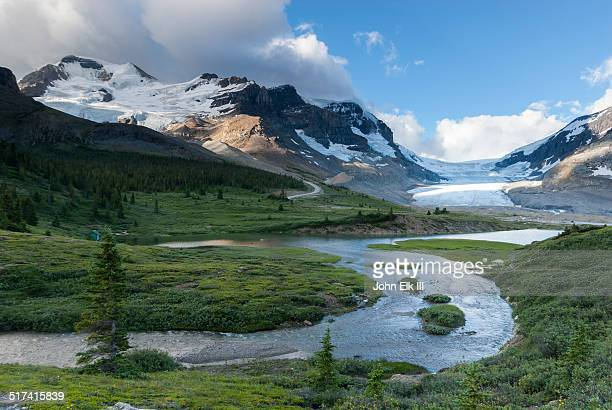 athabasca glacier - columbia icefield stock pictures, royalty-free photos & images