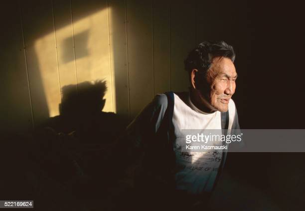 athabascan man - athabaskan stock pictures, royalty-free photos & images