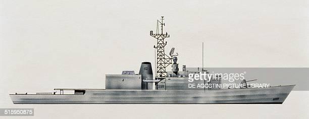 Athabaskan destroyer Canada, drawing.