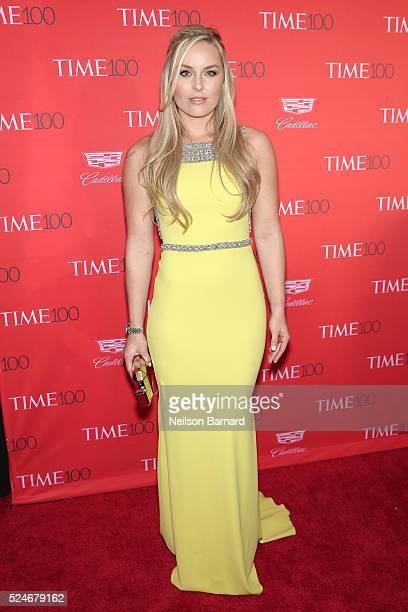 Athelete Lindsey Vonn attends the 2016 Time 100 Gala at Frederick P Rose Hall Jazz at Lincoln Center on April 26 2016 in New York City