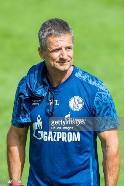 Atheltic coach Werner Leuthard of FC Schalke 04 looks on during the FC Schalke 04 Training Camp on August 25, 2020 in Laengenfeld, Austria.