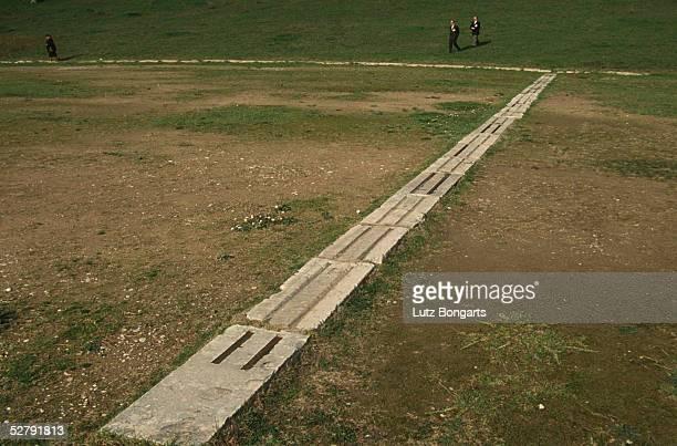 Athen 2004 Olympia Kultstaette Wiederentdecktes Zeus Heiligtum