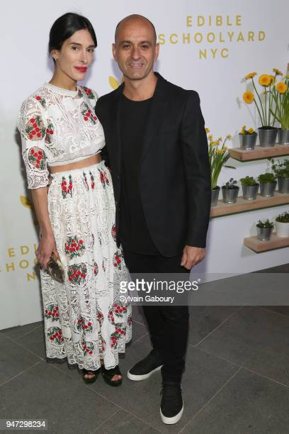 Athena Calderone and Victor Calderone attend Edible Schoolyard NYC 2018 Spring Benefit at 180 Maiden Lane on April 16 2018 in New York City