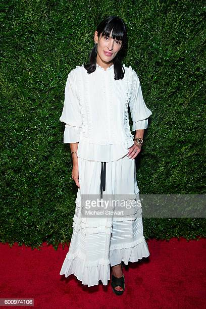 Athena Calderone attends the Saks Downtown x Vogue event at Saks Downtown on September 8 2016 in New York City