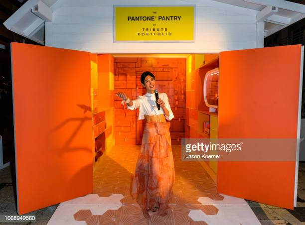 """Athena Calderone hosts opening of the Pantone Pantry by Tribute Portfolio, """"Revealing the Pantone Color of the Year"""" at Royal Palm South Beach on..."""