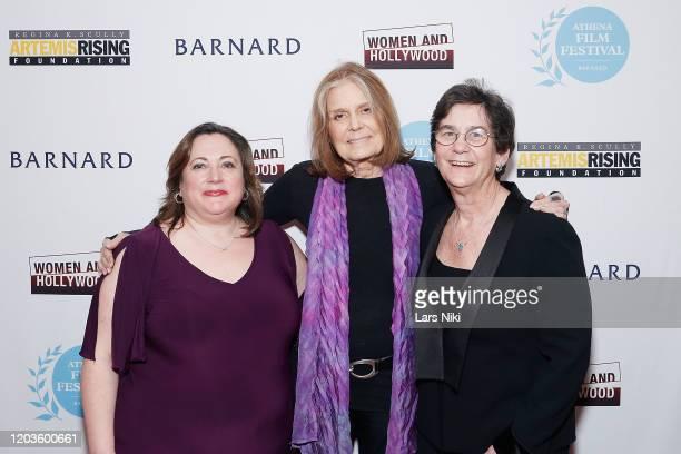 Athena Film Festival cofounder Melissa Silverstein Gloria Steinem and Athena Film Festival cofounder Kathryn Kolbert attend the 2020 Athena Film...