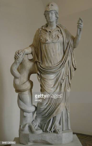 Athena Goddess of wisdom Statue Marble Altemps Palace National Roman Museum Rome Italy