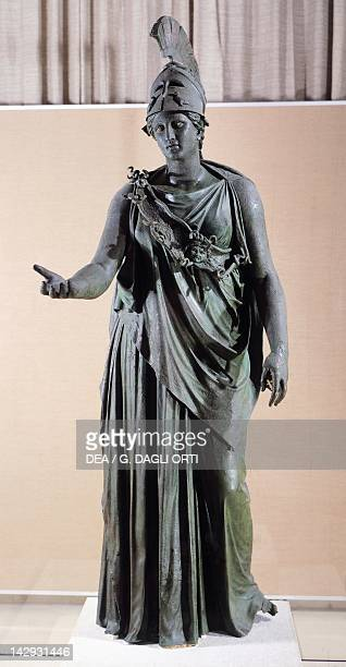 Athena Hellenistic bronze statue from Pireo Greek Civilization 4th Century BC Athens Ethnikó Arheologikó Moussío