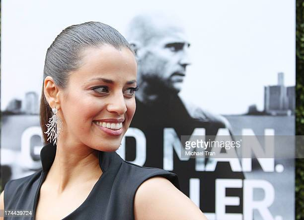Athena Karkanis arrives at the Los Angeles premiere of AMC's New Series Low Winter Sun held at ArcLight Hollywood on July 25 2013 in Hollywood...