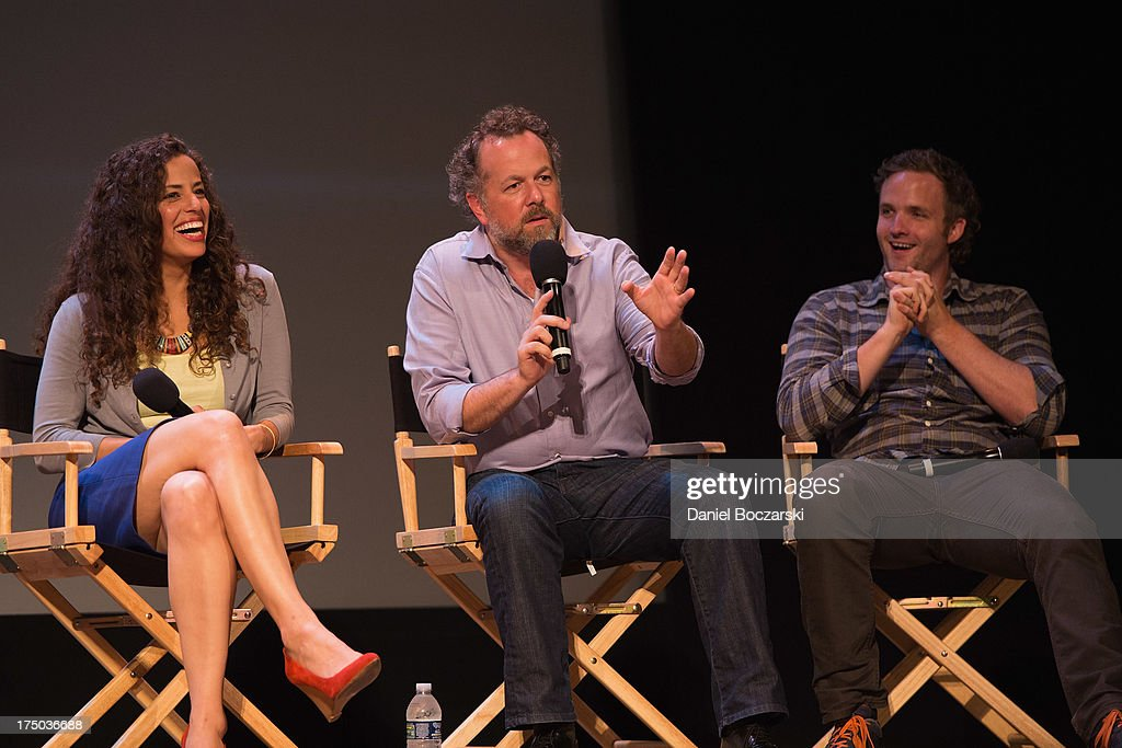 Athena Karkanis, David Costabile and Billy Lush attend AMC's 'Low Winter Sun' cast Q&A with Art House Convergence on July 29, 2013 in Ann Arbor, Michigan.