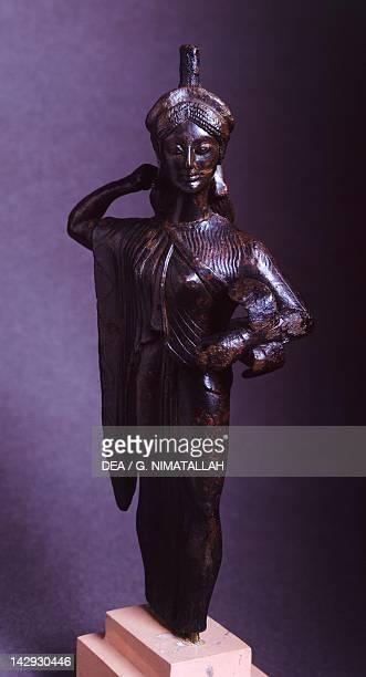 Athena Promaco Attic bronze statue Greece Greek Civilization 6th5th Century BC Athens Ethnikó Arheologikó Moussío