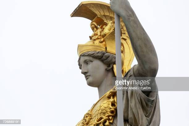 Athena Statue Against Clear Sky