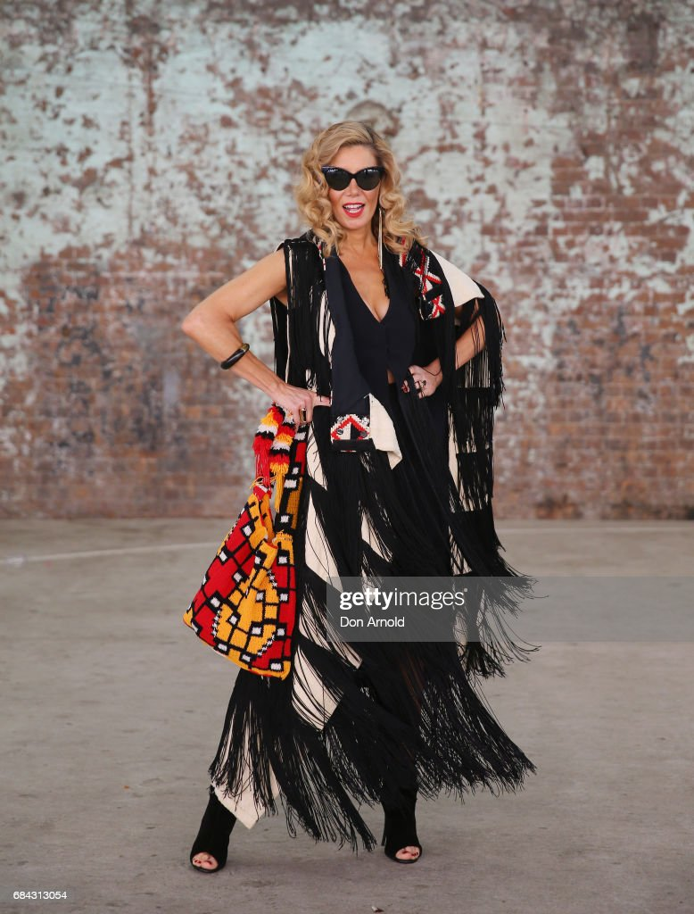 AthenaX Levendi wears vintage outfit with Levndi jewellery wearing during Mercedes-Benz Fashion Week Resort 18 Collections at Carriageworks on May 18, 2017 in Sydney, Australia.