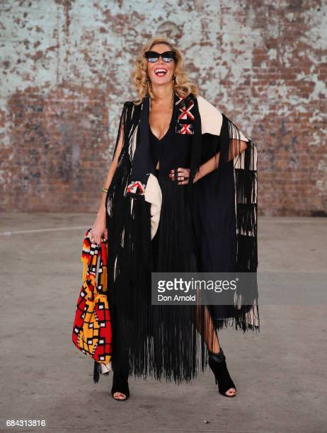 AthenaX Levendi wears vintage outfit with Levndi jewellery wearing during MercedesBenz Fashion Week Resort 18 Collections at Carriageworks on May 18...