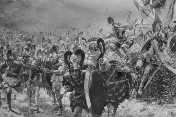 Athenian and Plataean warriors defeat vastly superior...