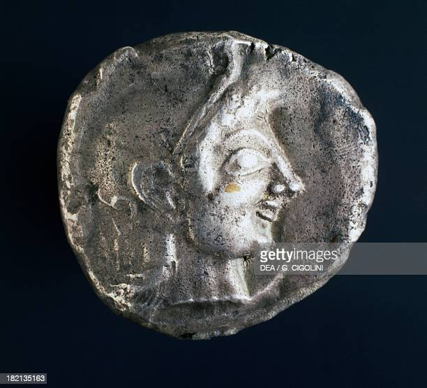 Athenian Silver tetradrachm recto Greek coins 6th century BC