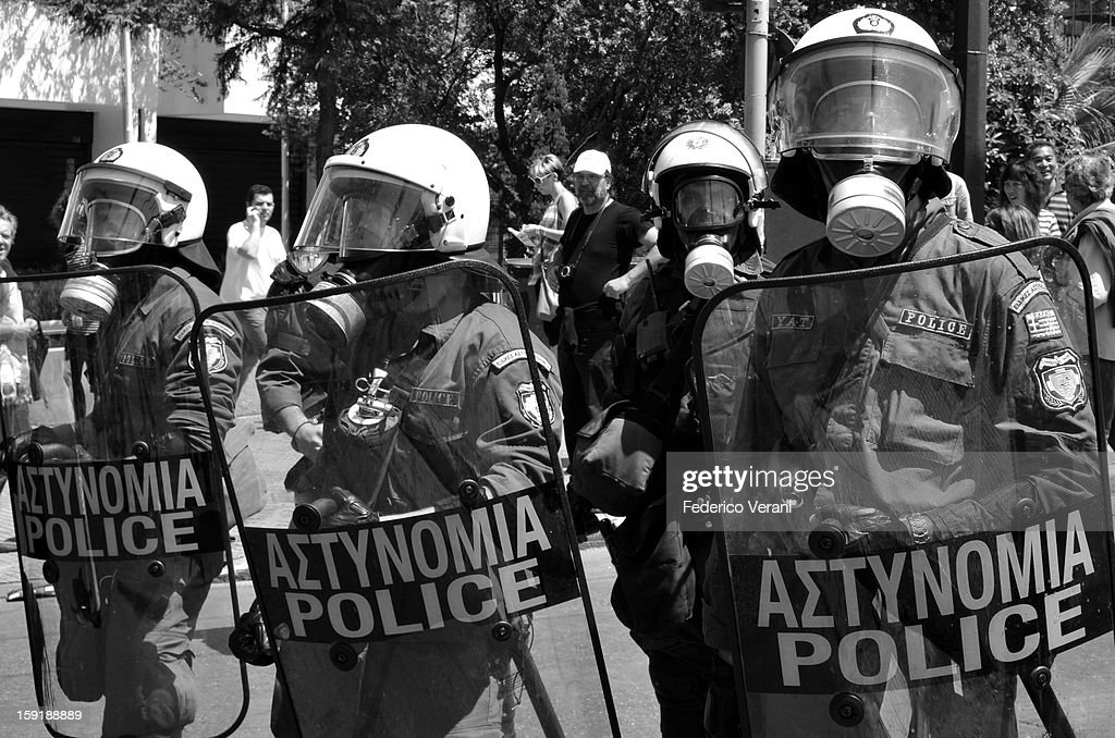 CONTENT] Athens 1 May 2010, Riot police in Syntagma Square.