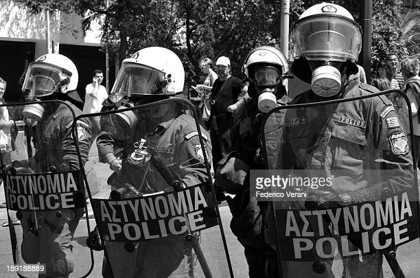 CONTENT] Athens 1 May 2010 Riot police in Syntagma Square