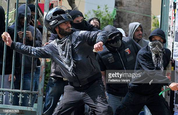 Athens 11 May 2011 Clashes with the riot police outside the Polytechnic during the General Strike