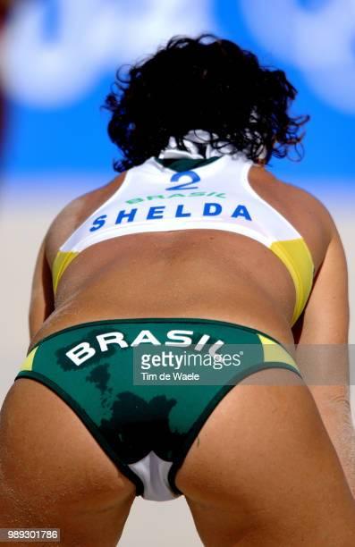 Athens 2004 Olympic Gamesillustration Illustratie Sexy Shelda Beach Volleyball Brazil Cubawomen Femmes Vrouwenolympische Spelen Jeux Olympique