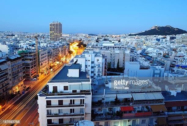 athens cityscape - xlarge - athens greece stock pictures, royalty-free photos & images