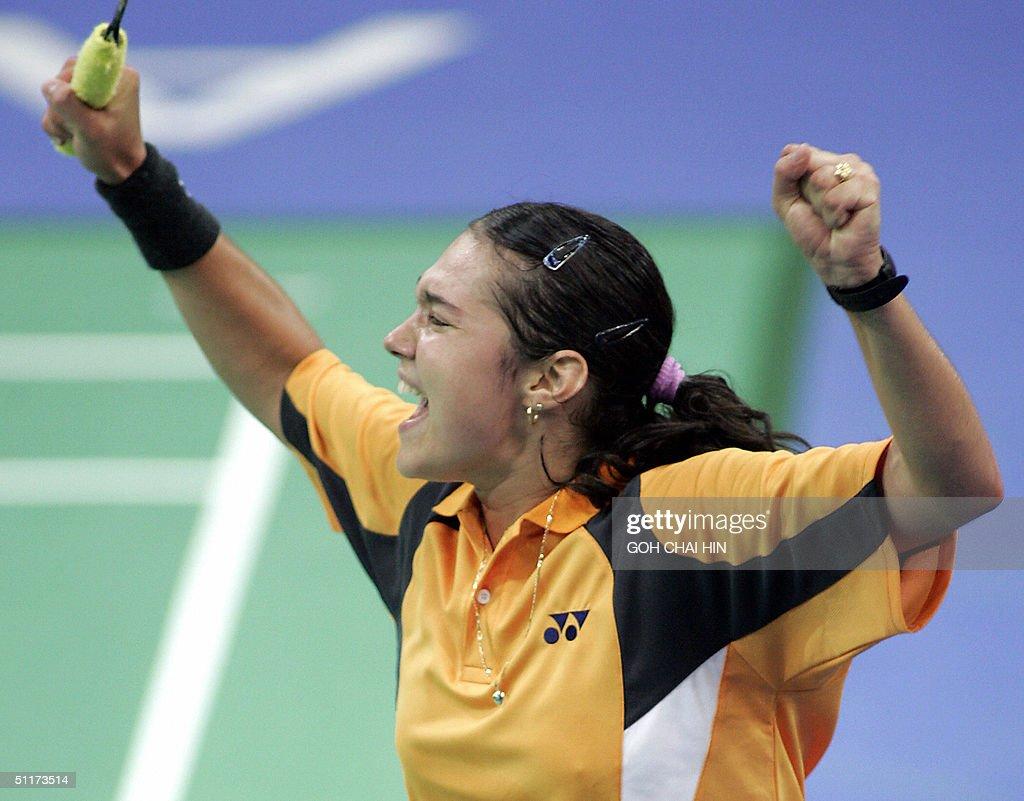 Bulgaria's Petya Nedelcheva celebrates a : News Photo