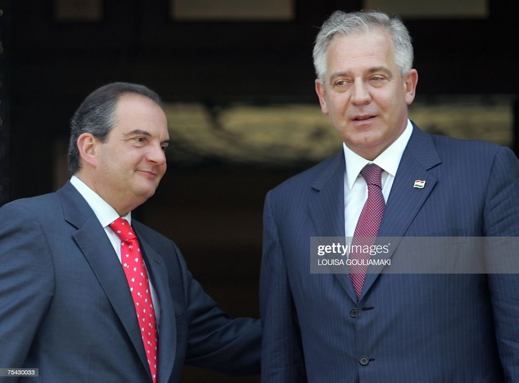 Greek Prime Minister Costas Karamanlis Pictures Getty Images