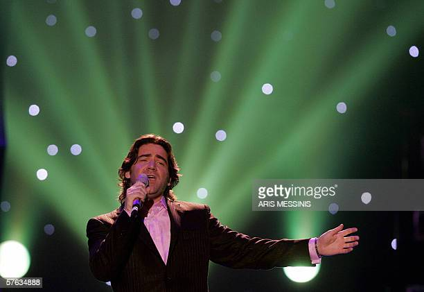 Ireland's representative Brian Kennedy performs his song Every song is a cry for love during the 2006 Eurovision semifinal dress rehearsal at the...