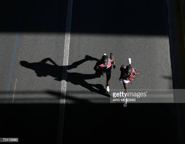 Kenyan runners lead the race of the Athens Classic Marathon 05 November 2006 The Marathon race is named after the legend Phidippides the man who ran...