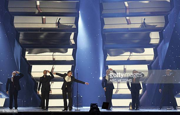 Lithuania's Lt United perform their song 'We are the winners ' during the 51st Eurovision semifinal contest at the Athens Olympic Indoor Hall 18 May...