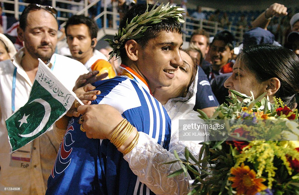 Silver medalist Amir Khan of Great Brita : News Photo