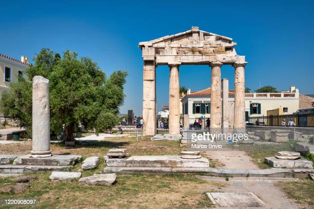 athens greece. the roman agora - marco brivio stock pictures, royalty-free photos & images