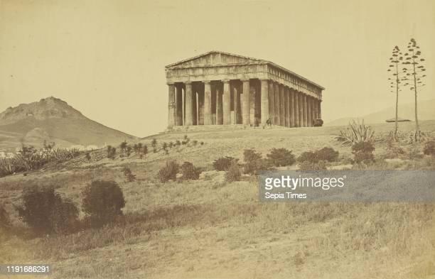 Athens - Hephaistion., Baron Paul des Granges , 1860 - 1869, Albumen silver print, 24.6 x 38.3 cm