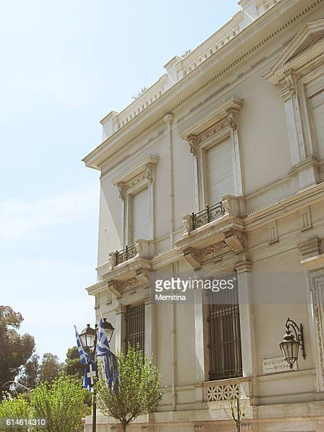 athens neoclassical buildings - greek parliament stock pictures, royalty-free photos & images