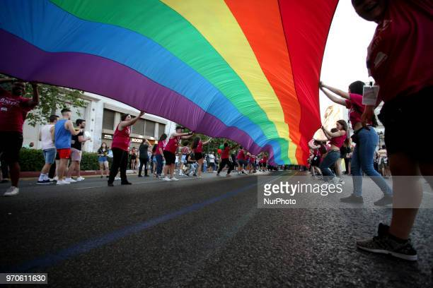 Athens Pride 2018 Thousands of people march in the streets of city center during the annual Gay Pride parade organized by LGBT activists in Athens...