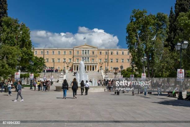 athens,greece - ギリシャ国会議事堂 ストックフォトと画像
