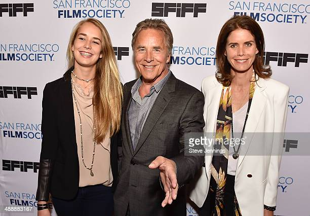 Atherton Grace Johnson Don Johnson and Kelley Phleger attends the 57th San Francisco International Film Festival on closing night for the Premiere of...
