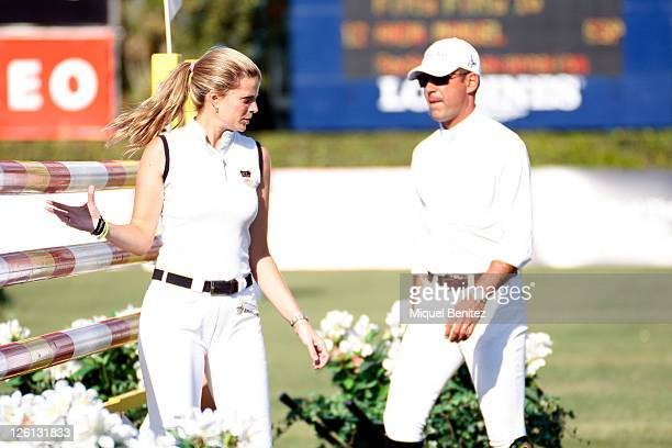 Athina Onassis and Alvaro Alfonso de MIranda Neto attend the CSIO Barcelona 100th International Show Jumping Competition at the Real Club de Polo on...