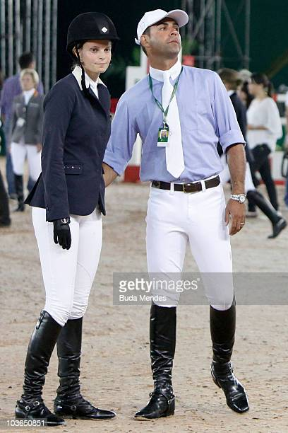 Athina Onassis and Doda Miranda during an Athina Onassis International Horse Show competition at the Sociedade Hipica Brasileira on August 26 2010 in...