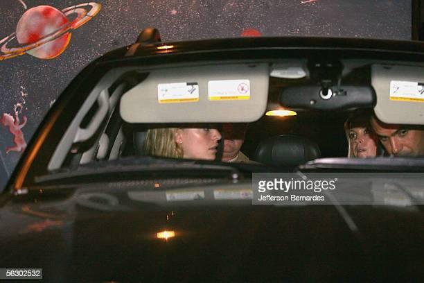 Athina Onassis and her Brazilian boyfriend Alvaro Alfonso de Miranda Neto known as Doda leave the restaurant Grill Crystal on November 29 2005 in Sao...